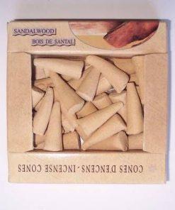 Conuri parfumate - set - aroma de santal