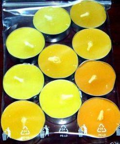 Set de 10 lumanari pastila cu aroma de lamaie