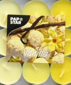 Set de 9 lumanari de culoare galbena cu aroma de vanilie