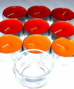Set de 9 lumanari parfumate cu aroma de citrice