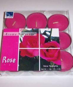 Set de 9 lumanari - trandafir - OFERTA EXCEPTIONALA!