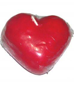 Lumanare rosie in forma de inima XL