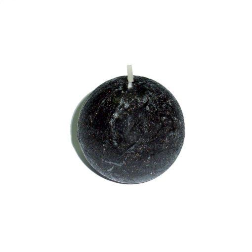 Lumânare sferă neagră – 5 cm