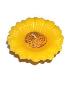 Lumanare galbena in forma de floarea soarelui