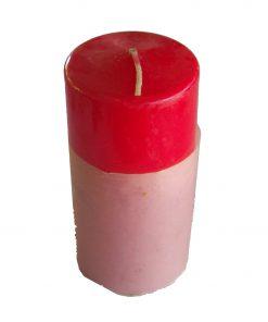 Lumanare rosie cilindru mare