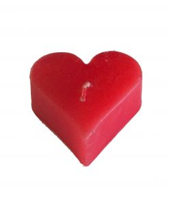 Lumanare rosie in forma de inima mica