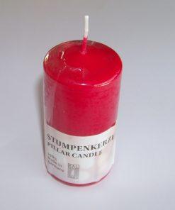 Lumanare rosie tip cilindru medie