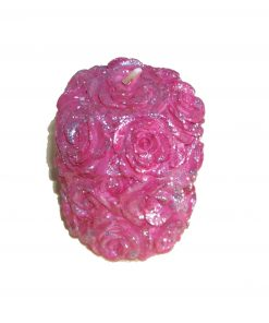 Lumanare roz in forma de trandafir