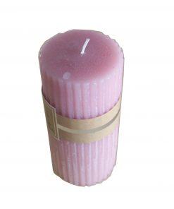 Lumanare roza cilindru mare XL