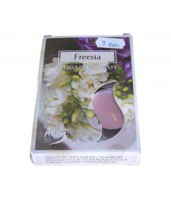 Set de 6 lumanari roz cu parfum de frezie
