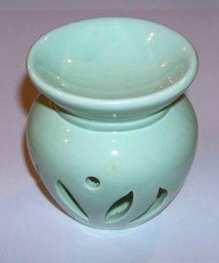 Vas pentru aromaterapie din ceramică - verde