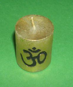 Lumanare aurie cu simbolul Tao/Om
