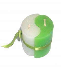 Lumanare rotunda verde