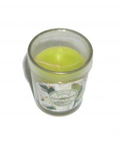 Lumanare in pahar de sticla cu aroma de lamai verzi