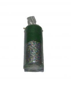 Lumanare verde inchis cu argintiu