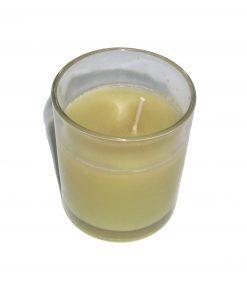 Lumanare in pahar de sticla cu aroma de iasomie